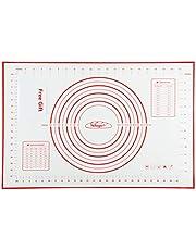 Nifogo Siliconen Bakmat Gasfornuisbeschermer, Gebak Rolling Mat Anti-aanbaklaag Groot met Metingen Schraper Gift, Keuken essentieel, doe-het-assistent, Er zijn verschillende specificaties beschikbaar