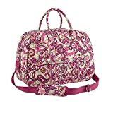 Vera Bradley Grand Traveler Tote in Paisley Meets Plaid For Sale