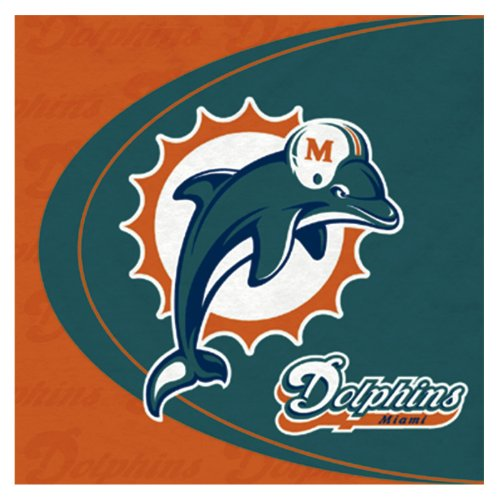 (Miami Dolphins Lunch Napkins)