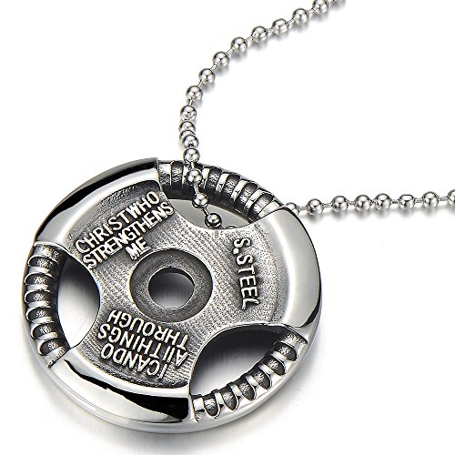 Stainless Spiritual Christian Pendant Necklace