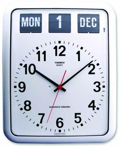 TWEMCO (トゥエンコ) 掛け時計 パーペチュアルカレンダー機能 BQ-12A White B00170I6BW