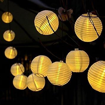 Amazon.com : 16ft 20 Oriental LED Solar String Chinese lantern ...