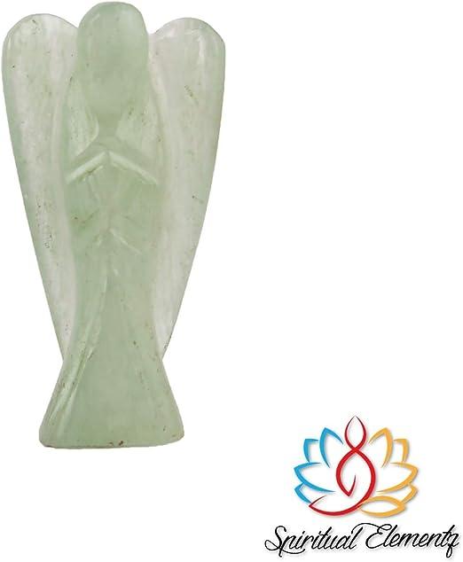 Height- 5.5 cm Gemstone Stone Figurine Gift. Spiritual Elementz Amethyst Guardian Healing Carved Angel