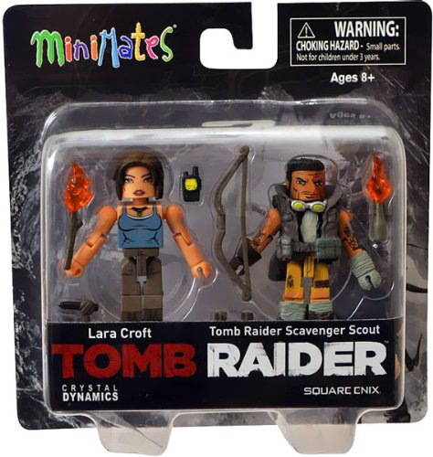 Lara Croft Tomb Raider Game Costume (Diamond Select Toys Tomb Raider Lara Croft and Molotov Scavenger Action Figure, 2-Pack)