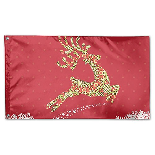 Bdna Christmas Deer Garden Flag 59 X 35 Inches Yard Flags In