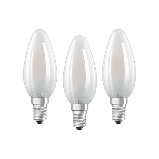Osram 819375 Bombilla LED E14, 4 W, Blanco, 4 Unidades