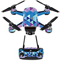 Skin for DJI Spark Mini Drone Combo - Purple Kaleidoscope| MightySkins Protective, Durable, and Unique Vinyl Decal wrap cover | Easy To Apply, Remove, and Change Styles | Made in the USA
