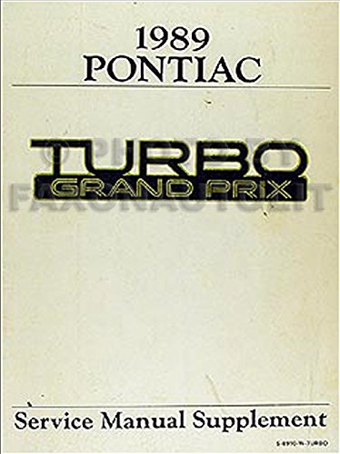 1989 Pontiac Grand Prix Repair Shop Manual