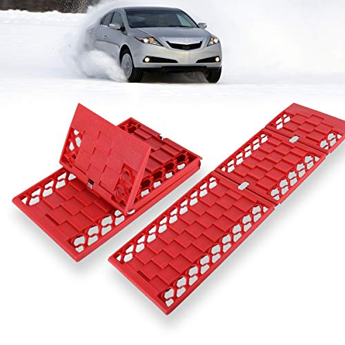 VaygWay Recovery Traction Snow Mats- Mud Car Tire Track Set- All Weather Emergency Off Road ()