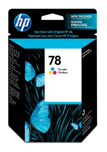 450 Page Yield Tri Color - HP 78 Tri-color Original Ink Cartridge (C6578DN) for HP Deskjet 3820 920 9300 930 932 940 955 960 980 HP Officejet g55 g85 k80 v40 HP PSC 750 950