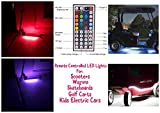 Remote Controlled LED Lights for Scooter, Wagon, Strollers, Skateboards, Golf Carts, and Kids Electric Cars comes with 20 Colors with Motion Options (10)