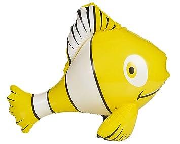 Amazon.com: Inflable Amarillo Tropical pez payaso natación ...
