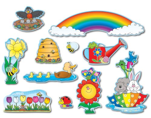 Carson Dellosa Spring Bulletin Board Set (Rainbow Bulletin Board)