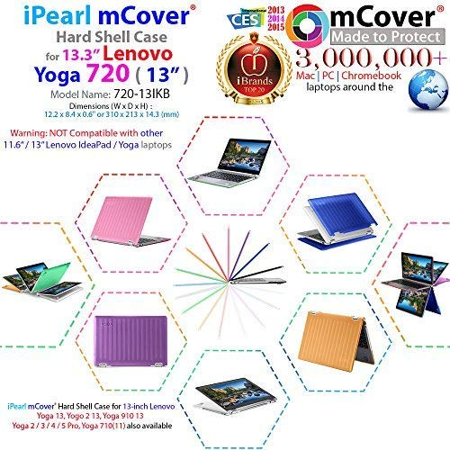 "mCover iPearl Hard Shell Case for New 13.3"" Lenovo Yoga 720 (13) Laptop (Clear)"