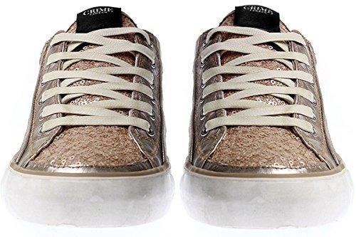 Crime London - Zapatillas de Piel para mujer Multicolor multicolor Multicolor - bronce