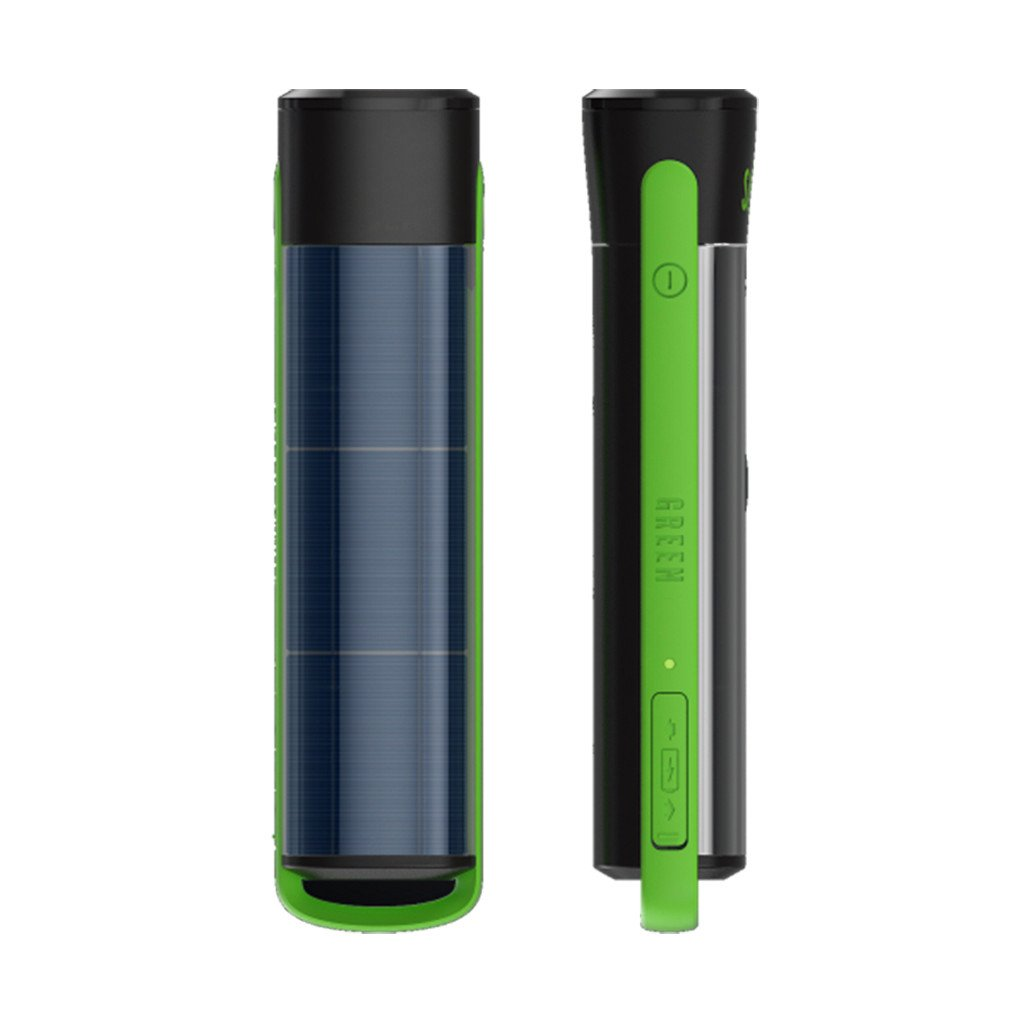 Solar Rechargeable LED Waterproof Flashlight. High / Low Beam, USB Cell Phone Charger, Built In Solar Panel Charges Indoors or Out, USB Cable Included for Quick Charge, 2 Pack