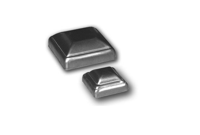 Bobco Metals Decorative Durable Heavy Duty Square Pressed Steel Caps 2'' (18 Pieces)