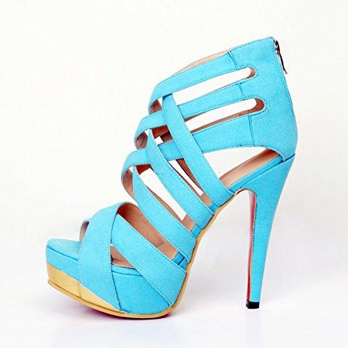 Kolnoo donna da blu top Hi Pantofole rqwv1r0
