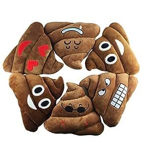 FPBS Emoji Emoticon Poop Mierda Algodón Suave Relleno Pillow Cushion...