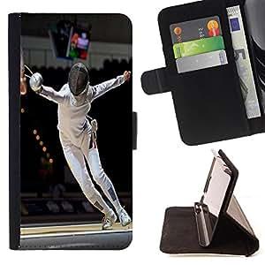 Super Marley Shop - Funda de piel cubierta de la carpeta Foilo con cierre magn¨¦tico FOR Sony Xperia Z3 Compact- Fencing