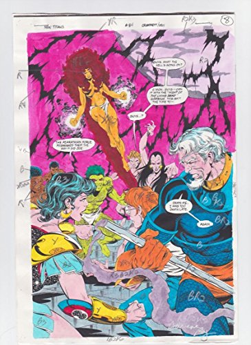 THE NEW TITANS #84 PAGE 7 ORIGINAL COMIC PRODUCTION ART NIGHTWING SIGNED w/COA