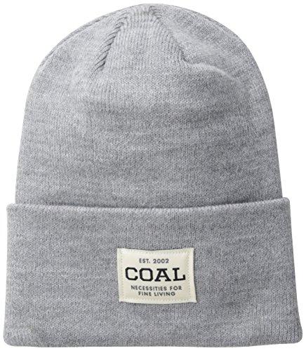 Coal Men's the Uniform Fine Knit Workwear Cuffed Beanie Hat, Heather Grey, One (Beanie Skate Cap Hat)