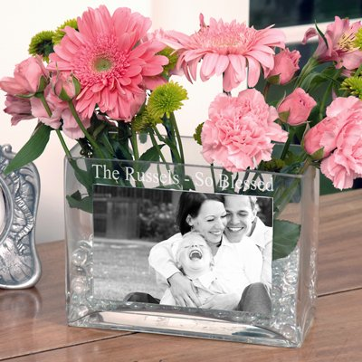 RaeBella New York's Personalized Family Glass Photo Vase ...