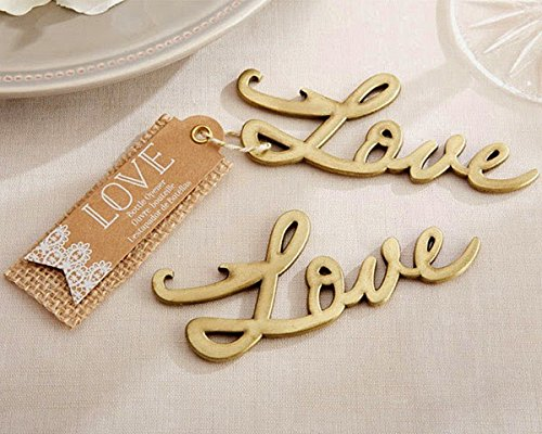 100 Love Antique Gold Bottle Opener by Kateaspen