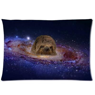 Nymeria 19 Sloth Astronaut Diy Design Zippered Pillow Case Covers 20X30 (One Side) Ga-601 - Nymeria 19