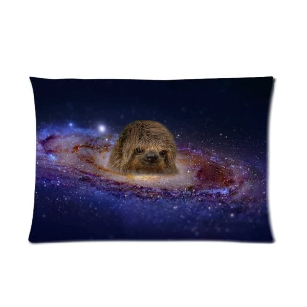 Nymeria 19 Sloth Astronaut Diy Design Zippered Pillow Case Covers 20X30 (One Side) Ga-601 -