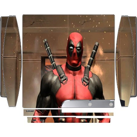 Comic Book Hero Playstation 3 & PS3 Slim Vinyl Decal Sticker Skin by Compass - Ps3 Deadpool Game
