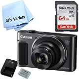Canon SX620 Digital Camera w/25x Optical Zoom - Wi-Fi & NFC Enabled (Black) with Free SanDisk Ultra 64GB SDHC Class 10 Card