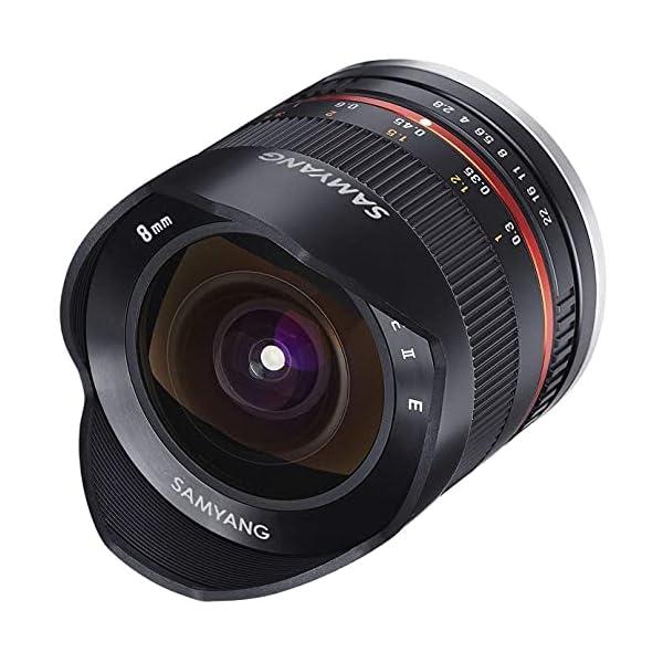 RetinaPix Samyang 8 mm F2.8 UMC Fisheye Manual Focus Lens for Canon M - Black