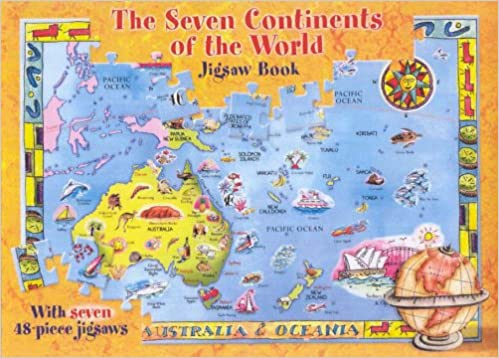 Seven Continents Of The World Jigsaw Book Amazoncouk Five - Seven continents of the world