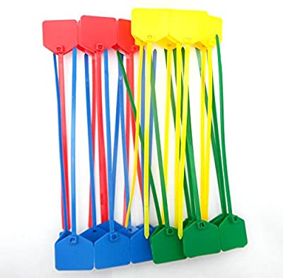 50 Pcs 6-Inch Nylon Cable Ties with Tags