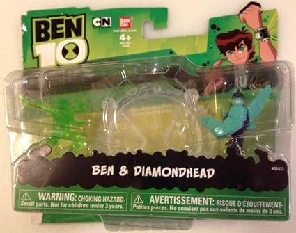amazon com ben 10 omniverse ben and diamondhead mini figures toys