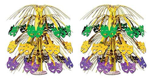 Beistle S50555AZ2 Mardi Gras Cascade Centerpieces 2 Piece, 18