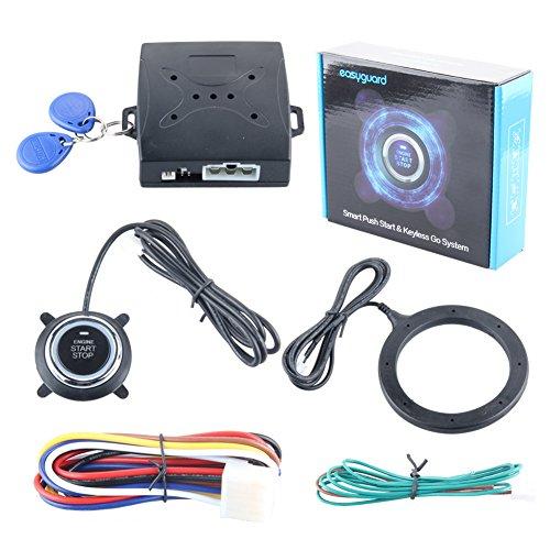 EASYGUARD EC004 Smart Rfid Car Alarm system Push Engine Start stop button Transponder Immobilizer Keyless Go System Fits for most DC12V cars