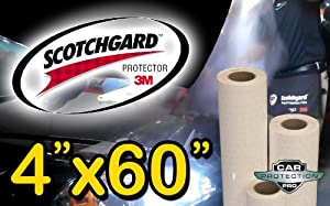 3M Scotchgard Clear Bra Paint Protection Bulk Film Roll 4-by-60-inches from Car Protection Pros
