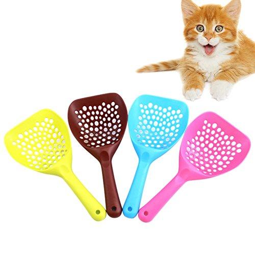 Pet Plastic Litter Scoop, Patgoal Pet Clean Shovel Sand Waste Scoop Shovel for Cats Dogs