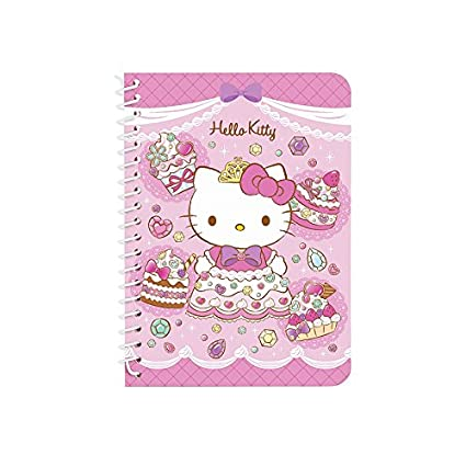 4424844a6 Image Unavailable. Image not available for. Color: Sanrio Hello Kitty Mini  Spiral Lined Notebook Note Pad ...