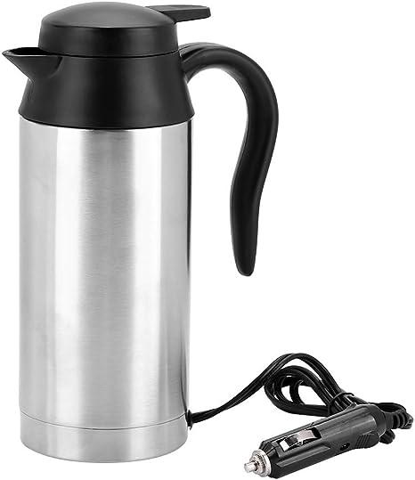 750ml Auto Elektrische Wasserkocher Edelstahl 24v Zigarettenanzünder Thermobecher Wasserbecher Für Wasser Kaffee Getränke Heizung