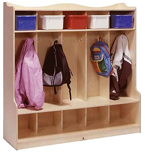 5-Section Locker in Natural Finish by Steffy Wood Products