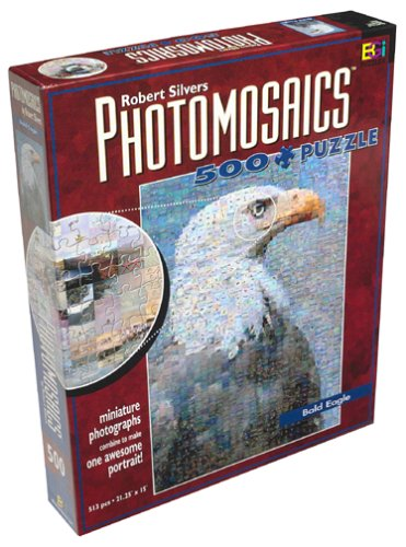 Robert Silvers Photomosaics 500 Piece Puzzle: Bald Eagle by Buffalo Games, Inc.