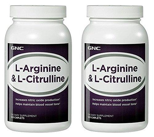GNC L-Arginine & L-Citrulline--2 bouteilles chacune des 120 Caplets
