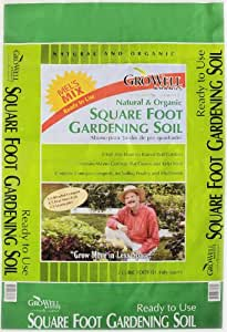 Mel's Mix 33002 Potting Soil Mix for Square Foot Garden, 2 Cubic Feet, Bag of 1