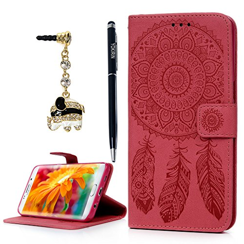 Samsung Galaxy S6 Edge Plus Wallet Case, YOKIRIN Luxury Embossed Dream Catcher Reminiscence Pattern PU Leather Flip Stand Up with Credit/ID Card Money Slots & Side Pocket Flip Magnetic