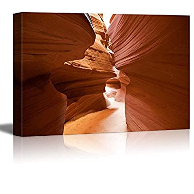 Canvas Prints Wall Art - Beautiful View Inside The Antelope Canyon in Arizona | Modern Wall Decor/Home Art Stretched Gallery Canvas Wraps Giclee Print & Ready to Hang - 16