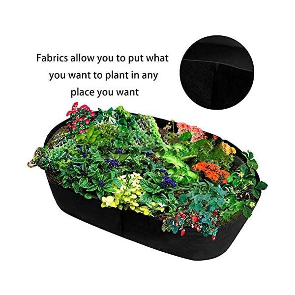 Funihut - Sacco da Coltivazione in Feltro per Piante orto, 180 * 90 * 40 3 spesavip