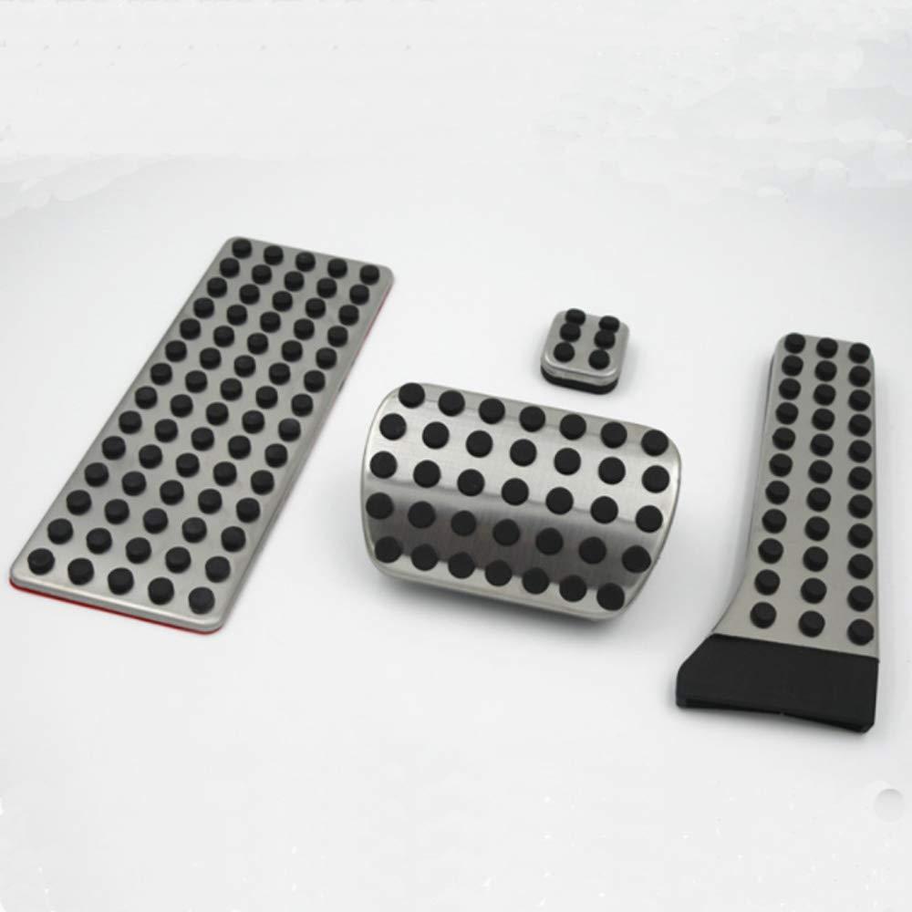 Semoic Car Accessories For Mercedes C E S Glk Slk Cls Sl-Class W203 W204 W211 W212W210 Amg,Accelerator Brake Footrest Pad 4Pcs